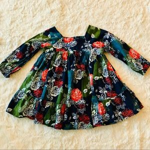 Baby Gap Fall Floral Long Sleeve Dress 12-18 Month